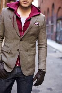 hoodie & blazer