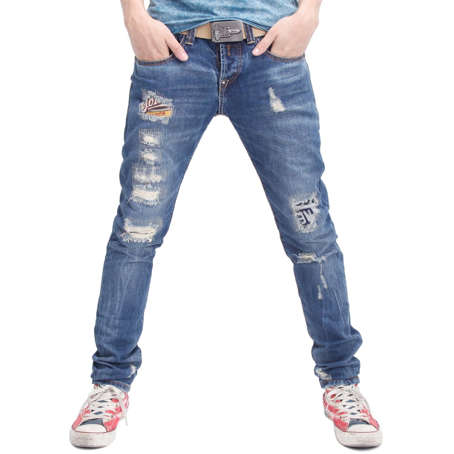 Man Ripped Jeans - Jeans Am